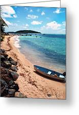 Boat Beach Vieques Greeting Card by Thomas R Fletcher