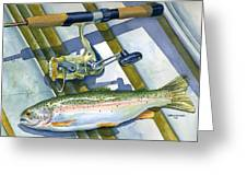boat bottom trout Greeting Card by Mark Jennings