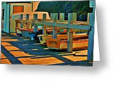 Boat Ride Greeting Card by Helen Carson