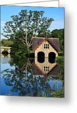 Boathouse Greeting Card by Joe Burns