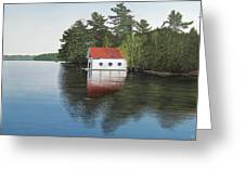 Boathouse Greeting Card by Kenneth M  Kirsch