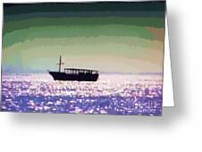 Boating Home Greeting Card by Deborah MacQuarrie