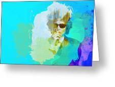 Bob Dylan Greeting Card by Naxart Studio