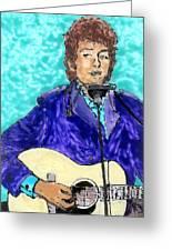 Bob Dylan Number 3 Greeting Card by Phil Strang