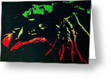 Bob Marley Skankin Greeting Card by Siobhan Bevans