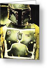 Boba Fett Greeting Card by Micah May