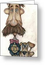 Bobblehead No 31 Greeting Card by Edward Ruth