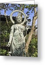Boddhisattva Buddhist Deity - Kyoto Japan Greeting Card by Daniel Hagerman