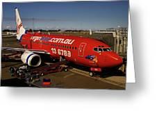 Boeing 737-7q8 Greeting Card by Tim Beach