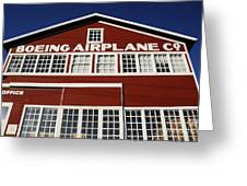 Boeing Airplane Hanger Number One Greeting Card by David Lee Thompson