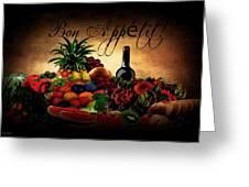 Bon Appetit Greeting Card by Lourry Legarde