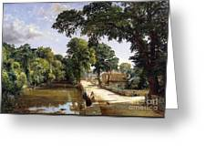 Bonchurch Isle Of Wight Greeting Card by Jasper Francis Cropsey