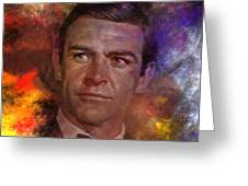 Bond - James Bond - Square Version Greeting Card by John Robert Beck