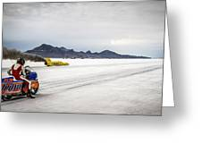 Bonneville Speed Week 2012 Greeting Card by Holly Martin