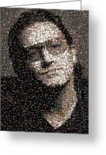 Bono U2 Albums Mosaic Greeting Card by Paul Van Scott