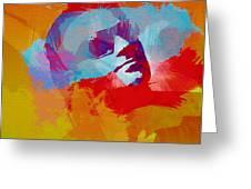 Bono U2 Greeting Card by Naxart Studio