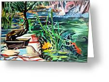 Bonsai Meditations Greeting Card by Mindy Newman