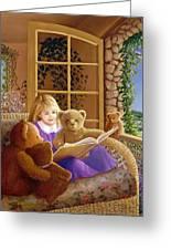 Book Club Greeting Card by Susan Rinehart