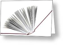 Book Greeting Card by Frank Tschakert