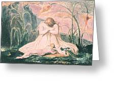 Book Of Thel Greeting Card by William Blake