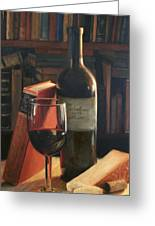 Booked For The Evening Greeting Card by Anna Rose Bain