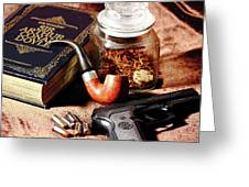 Books And Bullets Greeting Card by Barry Jones