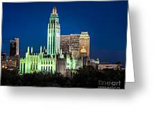 Boston Avenue Methodist Church At Twilight Greeting Card by Tamyra Ayles