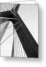 Boston Bridge  Greeting Card by Maria Lopez