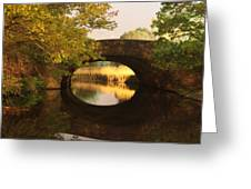 Boston Bridge Reflections Greeting Card by Lauri Novak