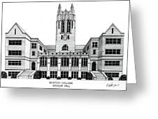 Boston College Greeting Card by Frederic Kohli