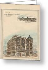 Boston Terra Cotta Building Boston Ma 1883 Greeting Card by William Preston