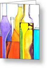 Bottled Rainbow 1 Greeting Card by Jun Jamosmos