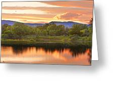 Boulder County Lake Sunset Landscape 06.26.2010 Greeting Card by James BO  Insogna