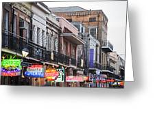 Bourbon Street At Dusk Greeting Card by Taylor S. Kennedy