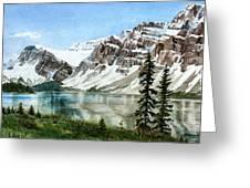 Bow Lake Alberta No.2 Greeting Card by Debbie Homewood
