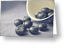 Bowl Of Blueberries Greeting Card by Lyn Randle