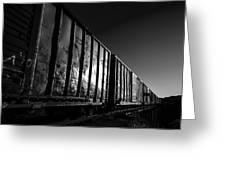 Boxcar Sunrise Greeting Card by Bob Orsillo