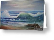 Breakers Greeting Card by Rita Palm