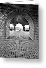Brick Arch Greeting Card by Greg Fortier