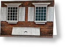 Brick Face Greeting Card by Christopher Holmes