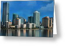 Brickell Skyline 2 Greeting Card by Bibi Romer