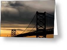 Bridge In Oil Greeting Card by Thomas  MacPherson Jr