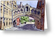 Bridge Of Sighs. Hertford College Oxford Greeting Card by Mike Lester