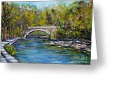 Bridge Over Wissahickon Creek Greeting Card by Joyce A Guariglia