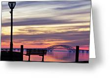 Bridge Reflection Greeting Card by Vicki Jauron