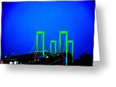 Bridges 2x2010b Greeting Card by Fareeha Khawaja