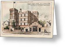 Brigade Depot Oxford England 1880 Greeting Card by Ingrefs Bell