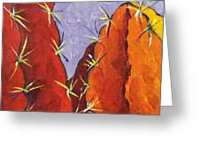 Bright Cactus Greeting Card by Sandy Tracey