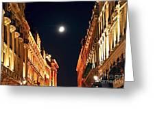 Bright Moon In Paris Greeting Card by Elena Elisseeva