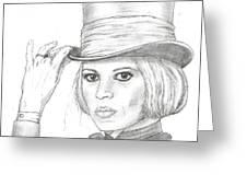 Brigitte Bardot Greeting Card by Steven White